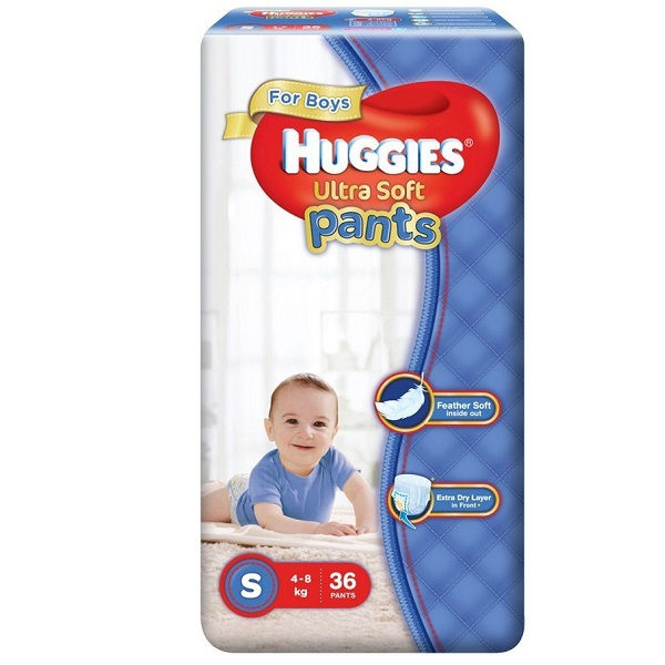 Huggies Ultra Soft Small Size Premium Diapers Pants for Boys