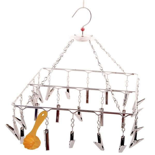 Hazel Square Cloth Hanger and Clips With Scoop Free
