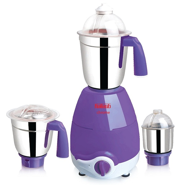 Kailash Chrome 750 Watt Mixer Grinder with 3 Jars
