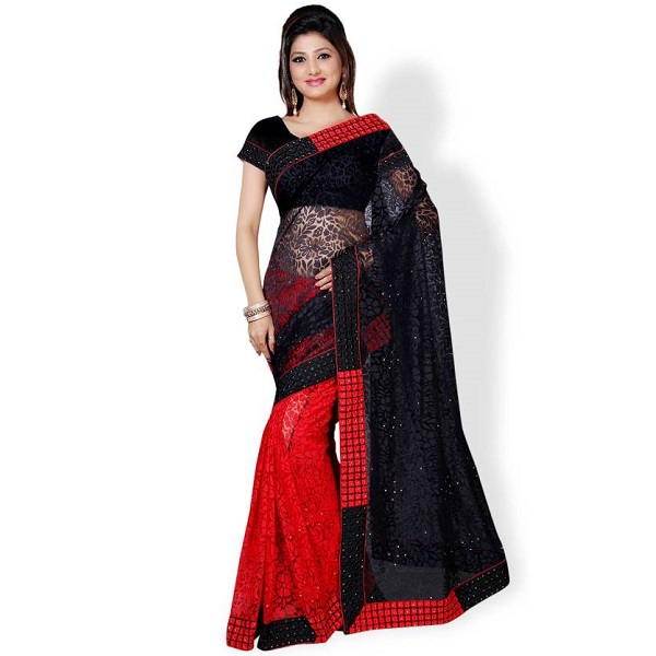Aruna Sarees Embroidered Sari