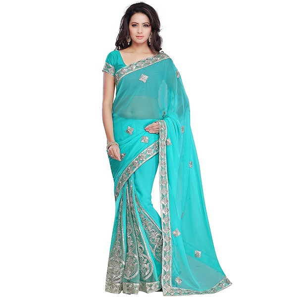 Janasya Womens Georgette Saree