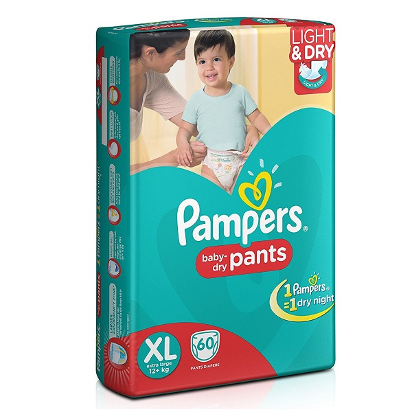Pampers Extra Large Size Diaper Pants 60 Count