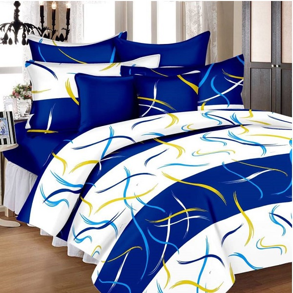 Zesture Cotton Abstract Double Bedsheet