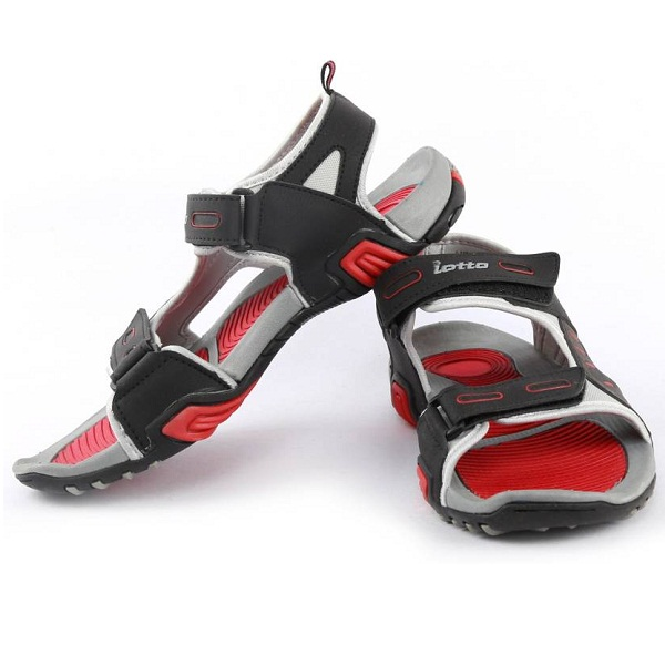 Lotto Men Grey Red Sports Sandals