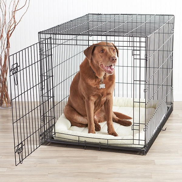 AmazonBasics Single Door Folding Metal Dog Cage