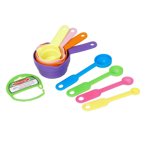 One Stop Shop Slings 8Pcs Measuring Cup and Spoon Set