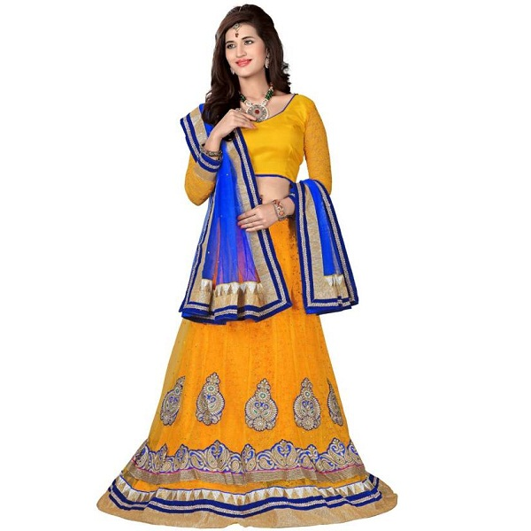 Aasvaa Embroidered Lehenga Choli and Dupatta Set