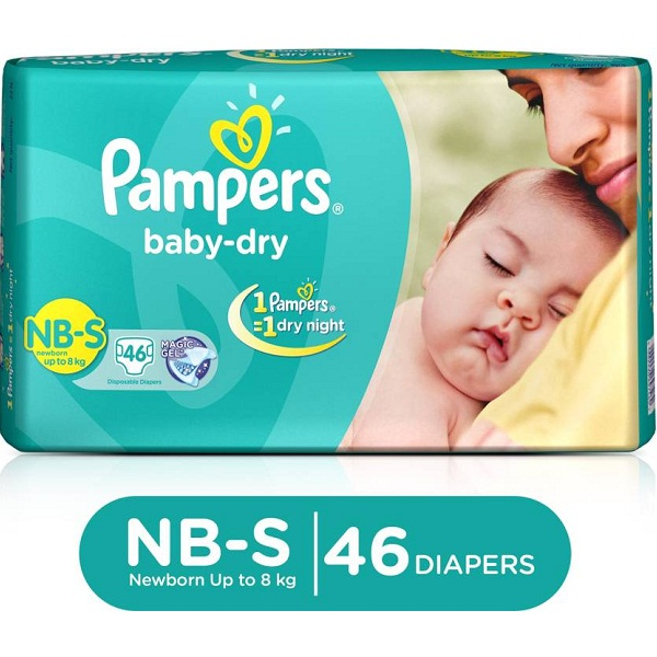 Pampers Baby Diapers S 46 Pieces