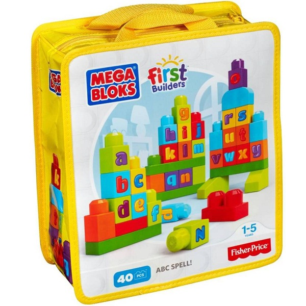 Fisher Price Mega Bloks First Builders 40 Pc Abc Spell Set