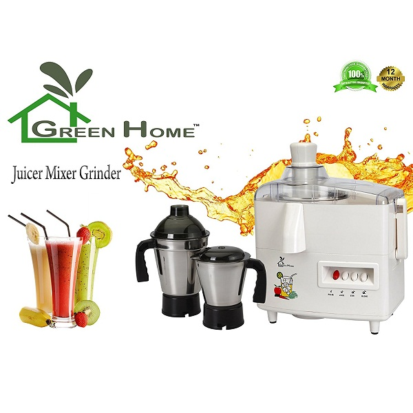 GTC Green Home Juicer Mixer Grinder 550W With 2 Stainless steel Jar