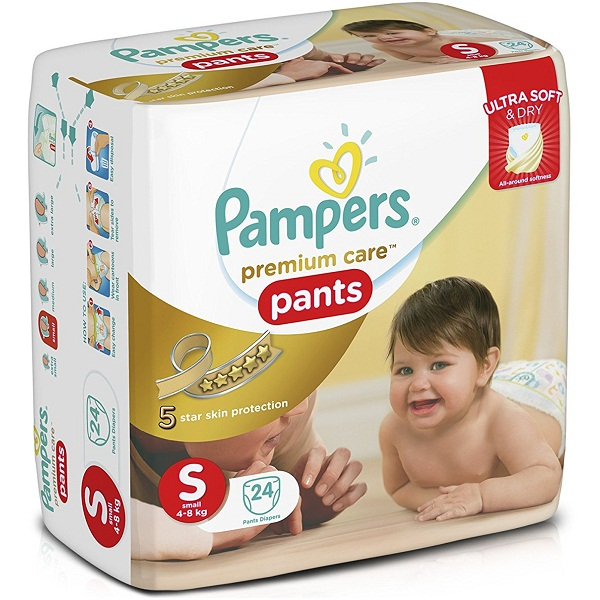 Pampers Premium Care Small Size Diaper Pants 24 Count