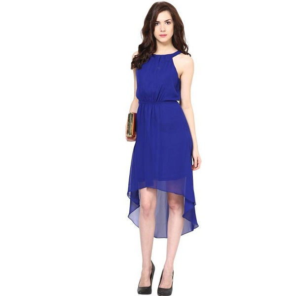 Harpa Womens High Low Blue Dress
