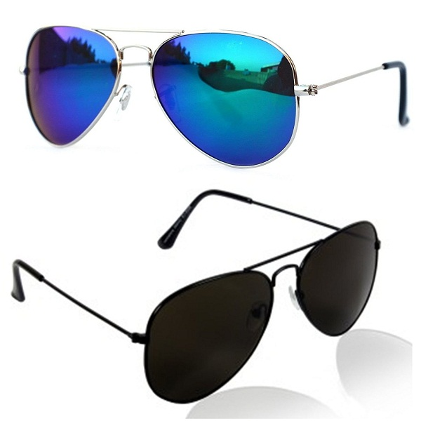 Younky Aviator Unisex Sunglasses Combo