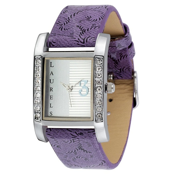 Laurels Princess Analog White Dial Womens Watch