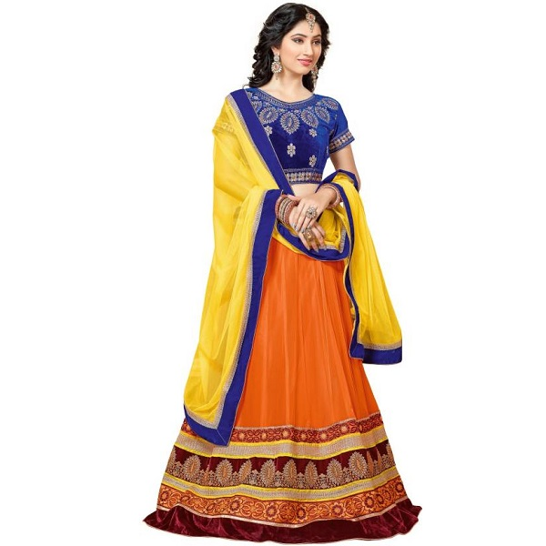 MF Embroidered Womens Lehenga Choli