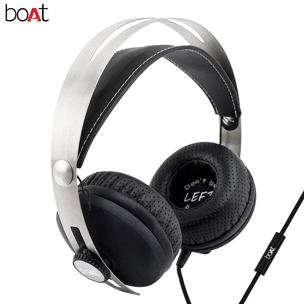 boAT BassHeads 800 Super Extra Bass Wired Headphones with Mic
