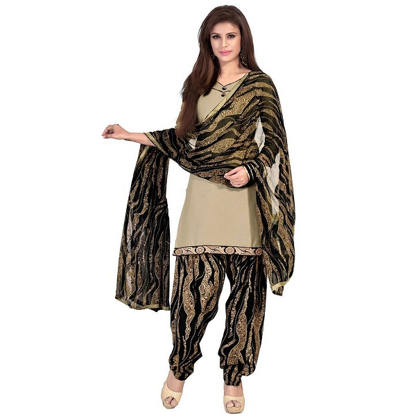 EthnicJunction Womens Cotton Patiala Style Unstitched Dress Material