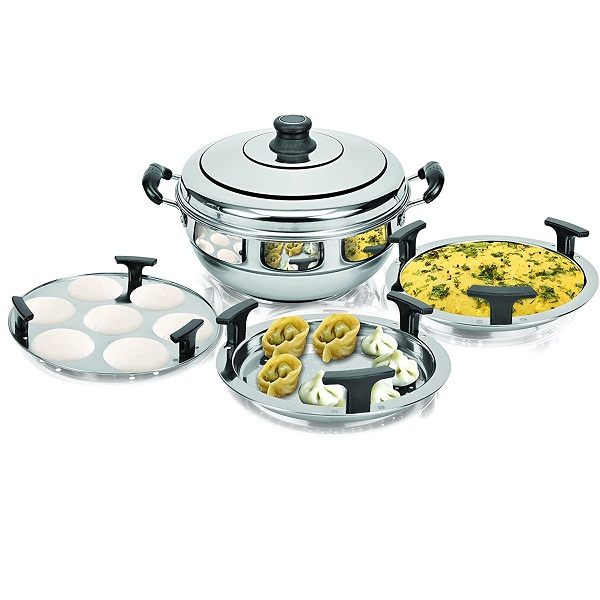 Kitchen Essentials Induction Steamer Cooker Kadai