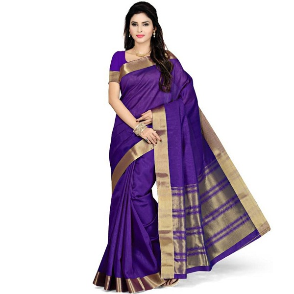 Rani Saahiba Self Design Fashion Poly Silk Sari