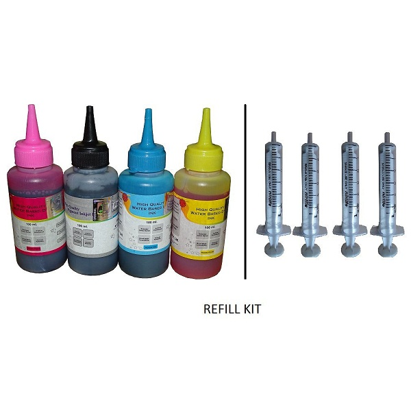 Flowjet Refill Ink for inkjet cartridge 4Pcs