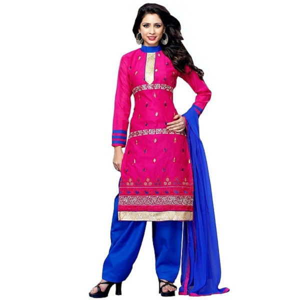 PARISHA Chanderi Cotton dress materials for women