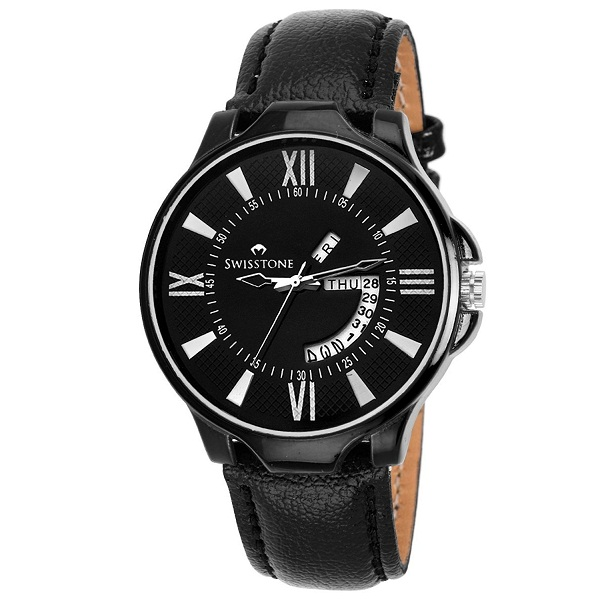 Swisstone Leather Strap Watch