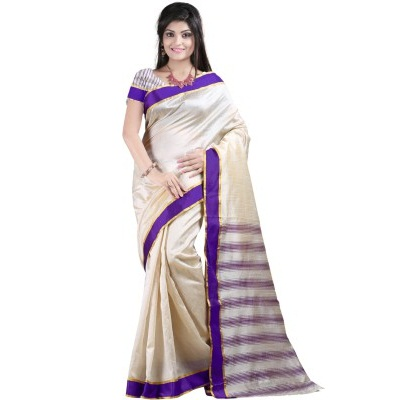 Sunita Sarees Self Design Chanderi Silk Sari