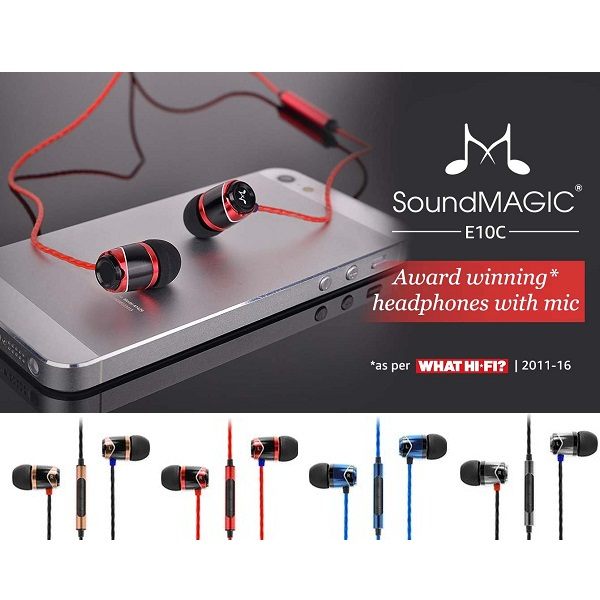 SoundMagic E10C InEar Headphones with Mic