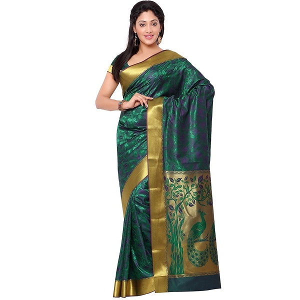 Janasya Womens Multi Kanchipuram Silk Saree