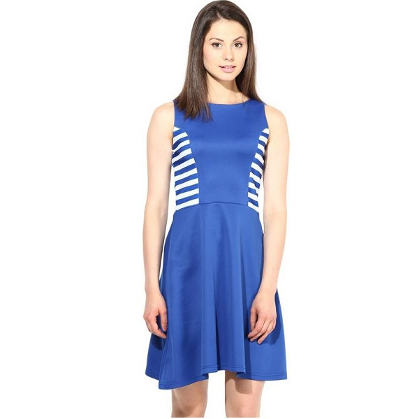 Harpa Womens Shift Blue Dress
