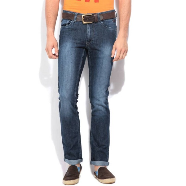 Flying Machine Skinny Mens Blue Jeans