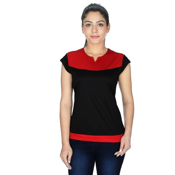 Crease And Clips Casual Cap Sleeve Top