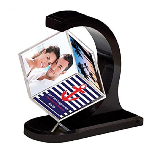 Happy GiftMart Rotating Photo Frame
