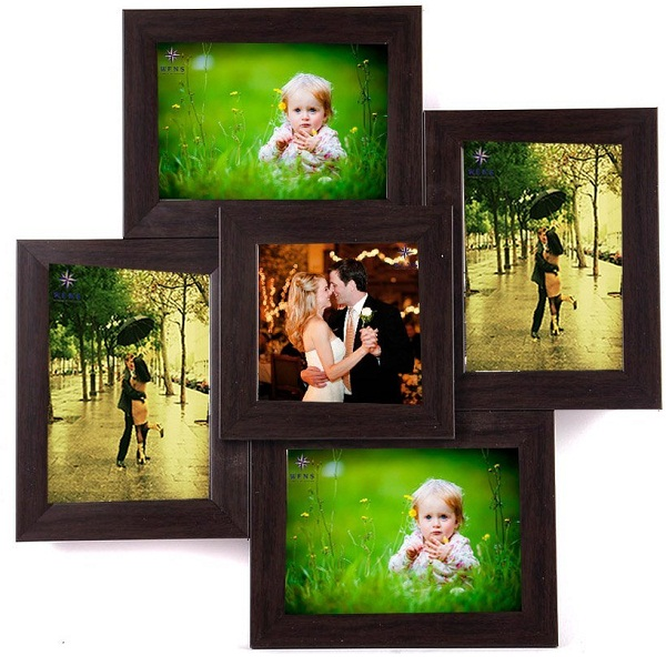 WENS 5 Picture MDF Photo Frame