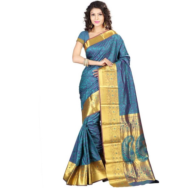 Sonal Trendz Self Design Kanjivaram Art Silk Sari