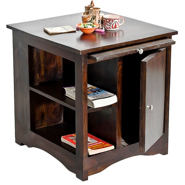 TimberTaste Latika Solid Wood Side Table