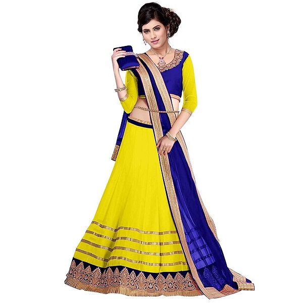Vibes Georgette Unstiched Party Wear Lehenga Choli