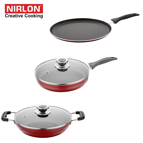 NIRLON Kitchen Non Stick Cookware Sets Combo