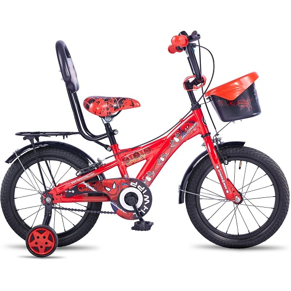 Hero Disney 16T Spiderman Junior Cycle with Carrier