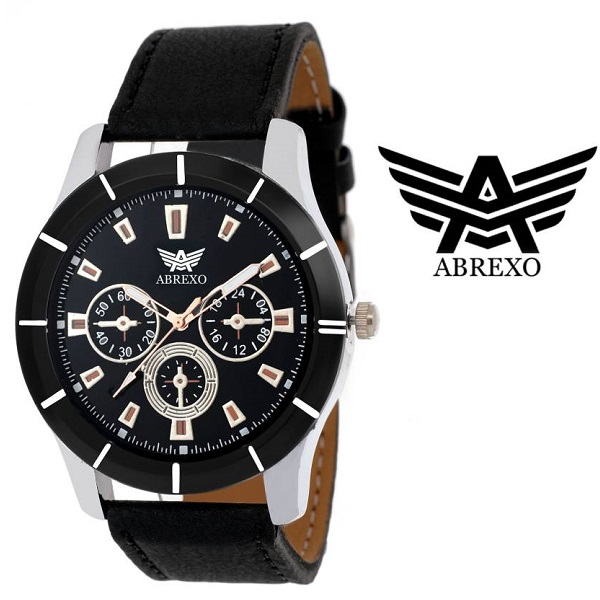 Abrexo Abx 1504 BLK CHRONOGRAPH PATTERN Analog Watch