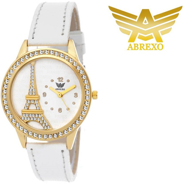 Abrexo Abx40007 GOLDWHT Analog Watch For Girls