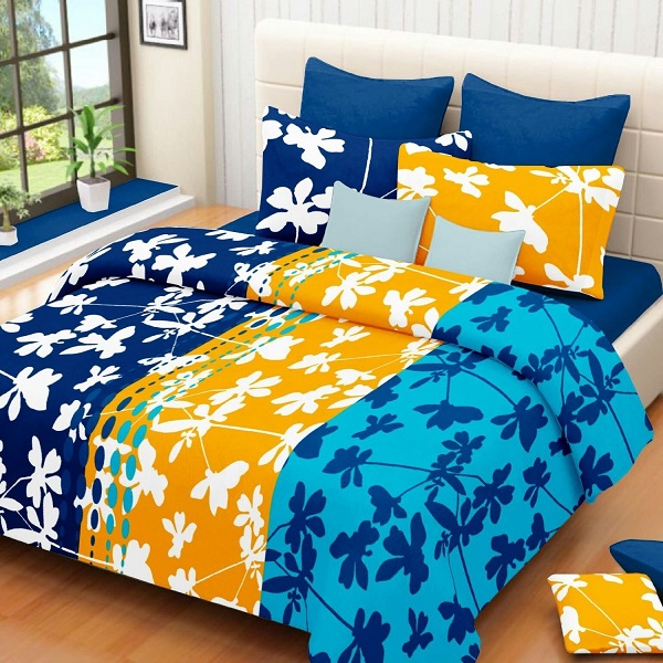 Casa Copenhagen Double Bedsheet With 2 Pillow Cover