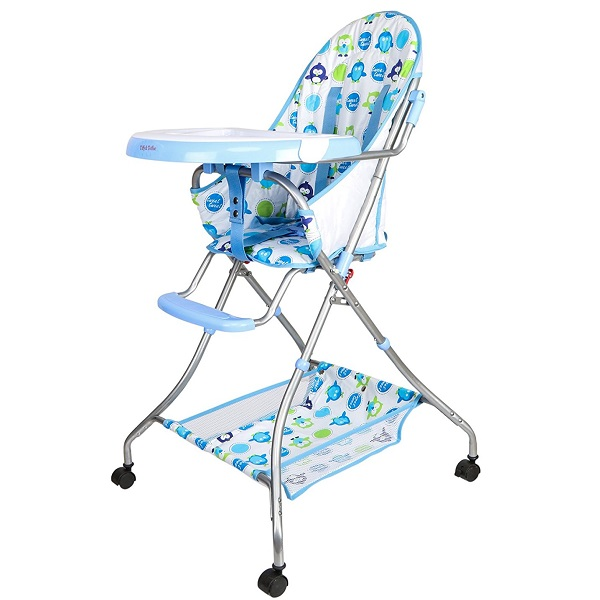 Tiffy and Toffee Baby Etiquette High Chair with wheels