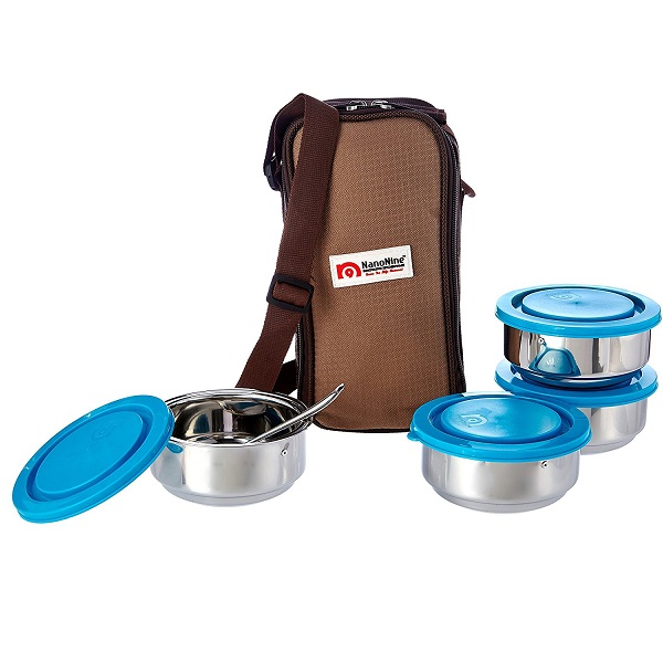 NanoNine Insulated Stainless Steel Junior Lunch Box