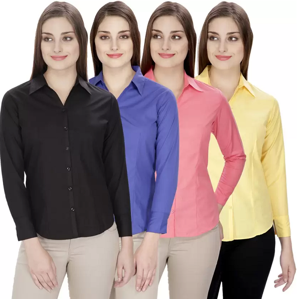 NGT Womens Pack of 4 Formal Shirt