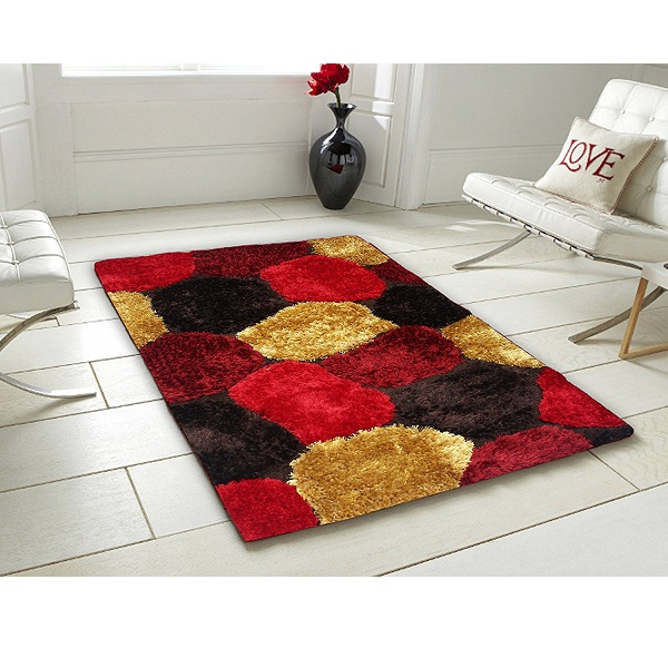 Story Home Designer Shaggy Fur Stone Polyester Carpet