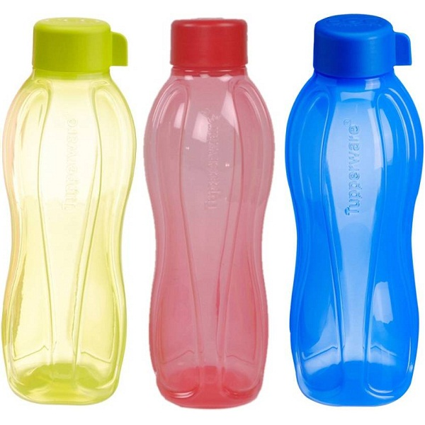 Tupperware Aquasafe 1000 ml Water Bottles 3Pcs