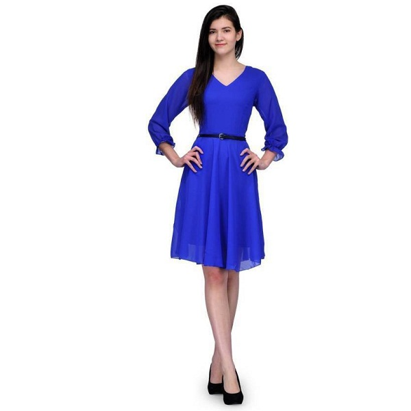 Stop Look Womens Shift Blue Dress