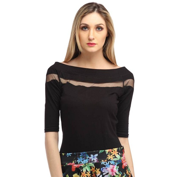 Cation Womens Black Top
