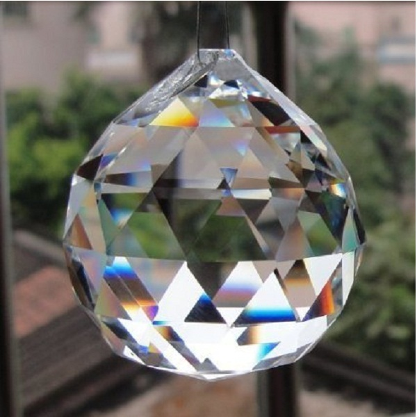 Reiki Crystal Products Clear Crystal Hanging Ball for Good luck
